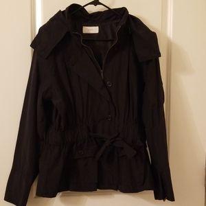 Black jacket w removable hood